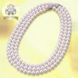 【1402-010】オーロラ花珠7~7.5mm和珠本真珠ロングネックレス