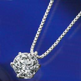 【1402-032】プラチナSIクラス大粒1ct天然ダイヤモンドペンダントネックレス
